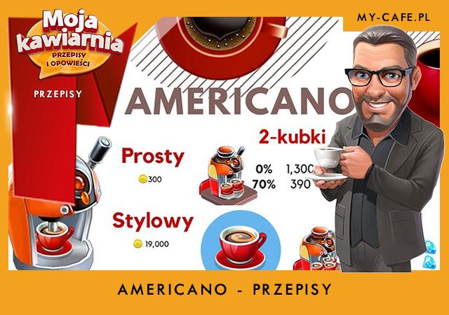 My Cafe przepisy na Americano – lista przepisów Moja Kawiarnia AMERICANO