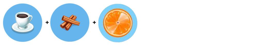Moja Kawiarnia przepisy Pomarańcza Cytrusowe Espresso (espresso + cynamon + pomarańcza)