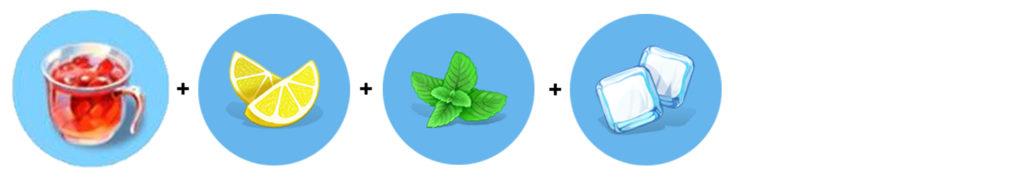 Odświeżający poncz (poncz + cytryna + mięta + lód)
