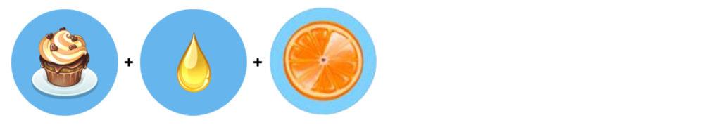 Pomarańczowa muffinka (muffinka + sok waniliowy + pomarańcza) Moja Kawiarnia przepisy Pomarańcza