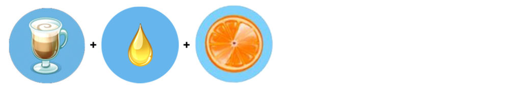 Pomarańczowe Cappuccino (cappuccino + sok waniliowy + pomarańcza)