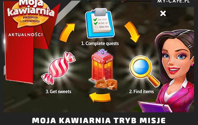 Misje z bohaterami Moja Kawiarnia – Energia, inwentarz FAQ