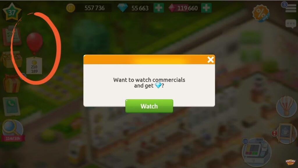 Balon reklamowy Moja Kawiarnia Aktualizacja 2020.9
